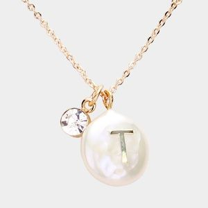 Jewelry - Freshwater Pearl Monogram Pendant Necklace